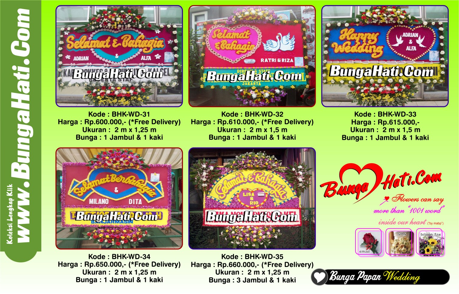 bunga papan wedding design by bungapapanonline.com dapatkan Disc 10 %
